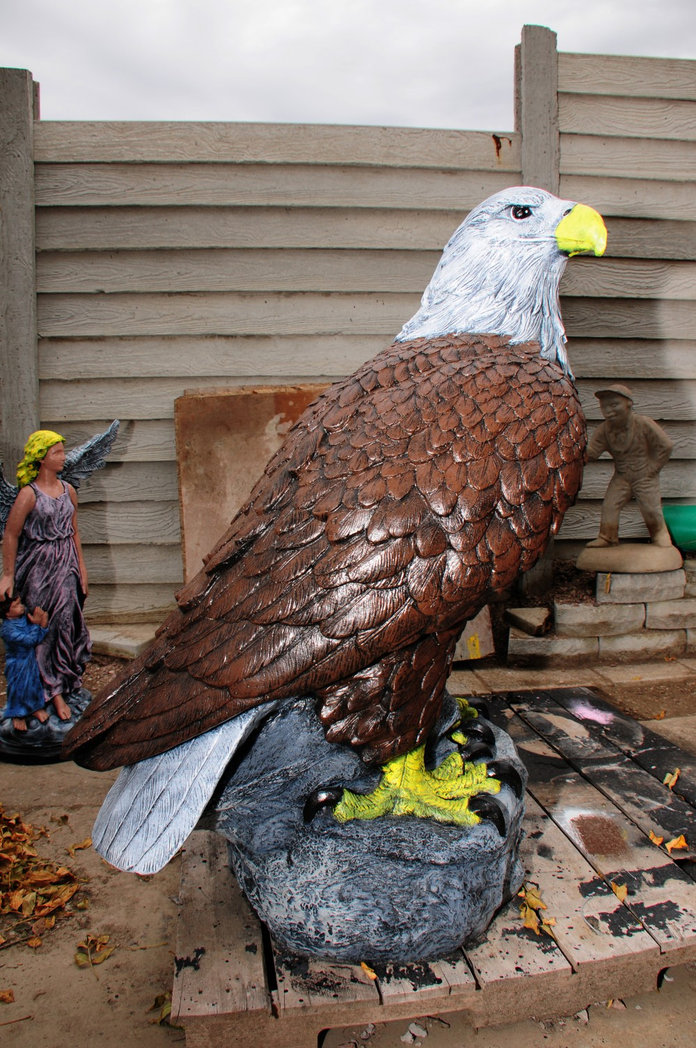Superieur Eagle Garden Statues Outdoor Designs