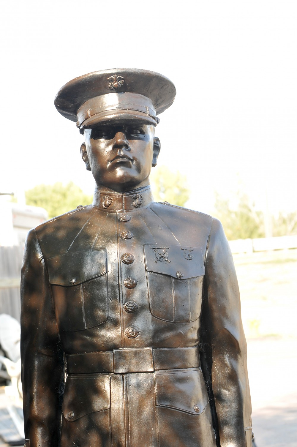 United States of America Marine standing at attention
